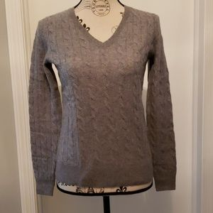 Bloomingdales exclusive grey cashmere sweater